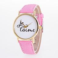cheap Watch Deals-Women's Quartz Wrist Watch Casual Watch PU Band Charm Casual Fashion Black White Blue Red Orange Green Pink Purple Yellow Khaki Navy