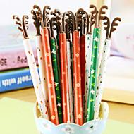 abordables Papelería-Bolígrafo Bolígrafo Plumas de gel Bolígrafo, El plastico Negro colores de tinta For Suministros de la escuela Material de oficina Paquete