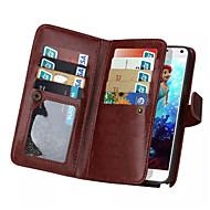 Недорогие Чехлы и кейсы для Galaxy Note-Кейс для Назначение SSamsung Galaxy Samsung Galaxy Note7 Бумажник для карт Кошелек Флип Магнитный Чехол Сплошной цвет Кожа PU для Note 7