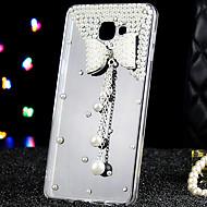 Назначение Кейс для  Samsung Galaxy Чехлы панели Стразы Прозрачный Задняя крышка Кейс для 3D в мультяшном стиле Акриловое волокно для