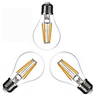 4W E26/E27 LED Filament Bulbs A60(A19) 4 COB 400lm Warm White 2800-3200K Dimmable AC 220-240 AC 110-130V