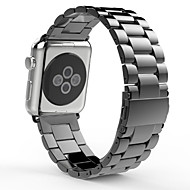 Watch Band For Apple Watch 3 Stainless Steel Butterfly Buckle Strap With Double Button