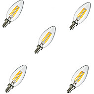 2w e14 led gloeilampen c35 4 high power led 220lm warm wit koud wit 3000k / 6500k decoratieve ac 220-240v