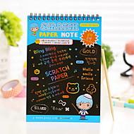 preiswerte Schreibwaren-Kratzer Papier diy Zeichnungsnotiz (1 Stück l)