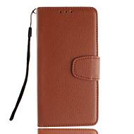 Недорогие Galaxy Core 2-Кейс для Назначение SSamsung Galaxy Кейс для  Samsung Galaxy Бумажник для карт со стендом Флип Чехол Сплошной цвет Кожа PU для Trend Duos