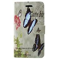 Недорогие Galaxy Core 2-Кейс для Назначение SSamsung Galaxy Кейс для  Samsung Galaxy Бумажник для карт Кошелек со стендом Флип Чехол Бабочка Кожа PU для J1 Ace