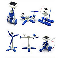 cheap Toys & Hobbies-DIY 6 in 1 Solar Powered Gadgets For Boy Children Educational ABS White / Blue