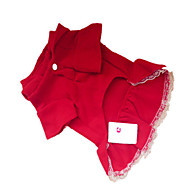 Hunde Kleider Rot Hundekleidung Winter Klassisch