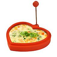 お買い得  キッチン用品 & 小物-シリコーンハート型形状の卵リングとパンケーキメーカーは、卵フライパン揚げパンケーキ調理金型(ランダムカラー)