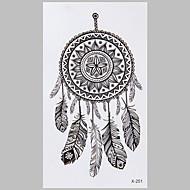 tatuaje de la manera dreamcatcher negro pegatinas impermeable tatuaje