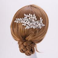 серебро / золото лист цветок форма кристалла перлы волос расчески для свадебного банкета леди