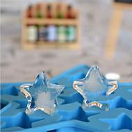 DIY hjemmelavet isform pentagram form høj kvalitet ny stil (tilfældig farve)