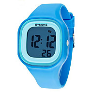 cheap Boy's Watches-SYNOKE Wrist Watch Quartz 30 m Water Resistant / Water Proof Alarm Calendar / date / day Plastic Band Digital Elegant Black / White / Blue - Black Red Blue / Chronograph / Luminous / LCD