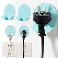 preiswerte Schreibwaren-2pcs nicht-trace Paste Typ elektrischen Stecker kreative Haken zufällige Farbe