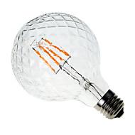 voordelige LED-gloeilampen-1pc 4W 300-350 lm E26/E27 LED-gloeilampen G60 4 leds COB Decoratief Warm wit AC 220-240V