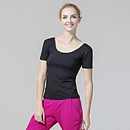 お買い得  -CONNY 女性用 スポーツ クラシック エラステイン トップス ズンバ ヨガ テコンドー 半袖 プラスサイズ アクティブウェア 高通気性 伸縮性あり
