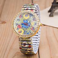 สำหรับผู้หญิง นาฬิกาข้อมือ นาฬิกาอิเล็กทรอนิกส์ (Quartz) หลาย-สี เลียนแบบเพชร ระบบอนาล็อก สุภาพสตรี ดอกไม้ แฟชั่น - สีเขียว ฟ้า สายรุ้ง หนึ่งปี อายุการใช้งานแบตเตอรี่ / Tianqiu 377