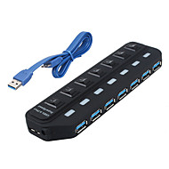 USB 3.0 7 portas / interface USB hub com interruptor separado 15.8 * 45 * 2