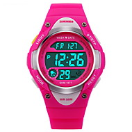 cheap Girl's Watches-SKMEI Sport Watch Digital Watch Digital Black / Blue / Pink 30 m Water Resistant / Water Proof Alarm Calendar / date / day Digital Fashion - Black Blue Pink Two Years Battery Life / Chronograph / LCD