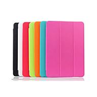Недорогие Чехлы и кейсы для Samsung Tab-Для Кейс для  Samsung Galaxy со стендом / С функцией автовывода из режима сна / Флип / Оригами Кейс для Чехол Кейс для Один цвет