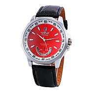 Недорогие Фирменные часы-WINNER Муж. Механические часы С автоподзаводом Повседневные часы PU Группа Аналоговый Кулоны Черный - Красный Синий