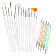 cheap Makeup & Nail Care-20pcs/Set Drafting Tools &  Accessories / Brushes / Accessories Chic & Modern / Trendy Nail Dotting Tool Nail Dotting Pen / Nail Brushes