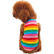 ieftine Produse de Gospodărie & Animale de Companie-Pisici Câine Tricou Îmbrăcăminte Câini Dungi Curcubeu Bumbac Costume Pentru animale de companie Bărbați Pentru femei Modă