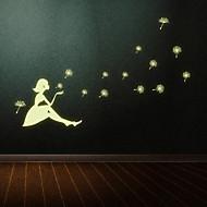 billige Artikler til hjemmet-Mode Vægklistermærker Fly vægklistermærker Selvlysende mur klistermærker Dekorative Mur Klistermærker Materiale Kan fjernesHjem