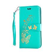 preiswerte Handyhüllen-Hülle Für LG K8 LG LG K7 LG G5 LG G4 LG Hülle Kreditkartenfächer Geldbeutel mit Halterung Flipbare Hülle Geprägt Ganzkörper-Gehäuse Blume