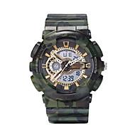 Недорогие Фирменные часы-Муж. Спортивные часы Армейские часы Цифровой 30 m Календарь Секундомер ЖК экран силиконовый Группа Аналого-цифровые Радужный камуфляж Мода Серебристый металл / Красный / Зеленый -  / Фосфоресцирующий