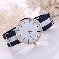 Недорогие Мужские часы-Муж. Нарядные часы Кварцевый Повседневные часы Материал Группа минималист Черный Белый Синий Красный