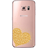 cheap Cases / Covers for Samsung-Case For Samsung Galaxy Samsung Galaxy S7 Edge Transparent Pattern Back Cover Heart Soft TPU for S7 edge S7 S6 edge plus S6 edge S6
