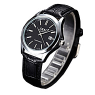 Couple's Fashion Watch Casual Watch Quartz PU Band Black