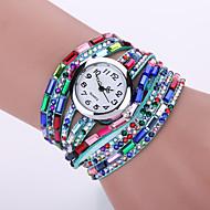 Damskie Modny Zegarek na nadgarstek Zegarek na bransoletce Kwarcowy / sztuczna Diament PU Pasmo Matowa czerń Artystyczny Nowoczesne