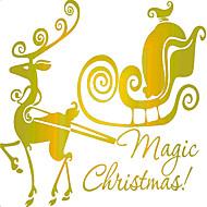 billiga Högtids- och partydekor-Djur Romantik Jul Väggklistermärken Väggstickers Flygplan Dekrativa Väggstickers, pvc Hem-dekoration vägg~~POS=TRUNC