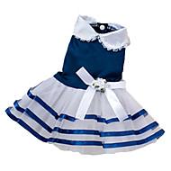 お買い得  -犬 ドレス 犬用ウェア 蝶結び レッド ブルー ピンク コットン 混合材 コスチューム ペット用