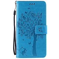 Για Samsung Galaxy Note Θήκη καρτών / Πορτοφόλι / με βάση στήριξης / Ανοιγόμενη / Ανάγλυφη tok Πλήρης κάλυψη tok Δέντρο ΜαλακήΣυνθετικό