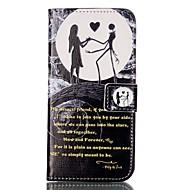 Недорогие Чехлы и кейсы для Galaxy S7-Кейс для Назначение SSamsung Galaxy Samsung Galaxy S7 Edge Бумажник для карт Кошелек со стендом Флип С узором Чехол Слова / выражения