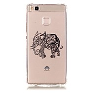 Voor Huawei hoesje / P9 / P9 Lite / P8 Lite Patroon hoesje Achterkantje hoesje Olifant Zacht TPU HuaweiHuawei P9 / Huawei P9 Lite /