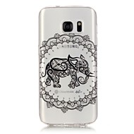 Для Samsung Galaxy S7 Edge Прозрачный / С узором Кейс для Задняя крышка Кейс для Слон Мягкий TPU Samsung S7 edge / S7 / S6