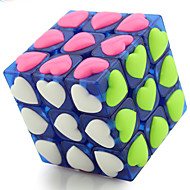 cheap Toys & Hobbies-Rubik's Cube YongJun 3*3*3 Smooth Speed Cube Magic Cube Puzzle Cube Professional Level Speed ABS Heart Children's Day New Year Gift