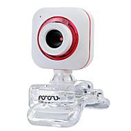 abordables Webcams-webcam del USB 2.0 CMOS de 0,5 m 640x480 30fps rojo / púrpura