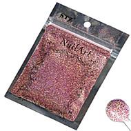 1PCSネイルアート美しい色のピンクのレーザーグリッターパウダーネイルDIYの装飾L02