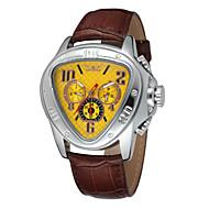 Недорогие Фирменные часы-WINNER Муж. С автоподзаводом Механические часы Наручные часы Календарь Кожа Группа Роскошь Черный
