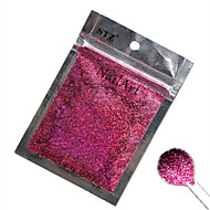 1PCSネイルアート美しい色は赤色レーザーグリッターパウダーネイルDIYの装飾L04をバラ