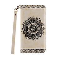 Для Кейс для  Samsung Galaxy Кошелек / Бумажник для карт / Защита от удара / Защита от пыли / Флип Кейс для Чехол Кейс для Цветы Твердый