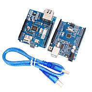 tanie Akcesroia Arduino-Ulepszona wersja uno r3 + ulepszona wersja ethernet mega2560 wsparcia W5100 r3 tarcza karta sieciowa