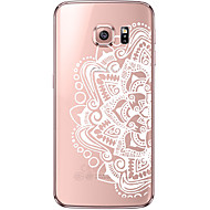 Case For Samsung Galaxy Samsung Galaxy S7 Edge Transparent Pattern Back Cover Mandala Soft TPU for S7 edge S7 S6 edge plus S6 edge S6