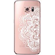 Недорогие Чехлы и кейсы для Galaxy S7-Кейс для Назначение SSamsung Galaxy Samsung Galaxy S7 Edge Прозрачный С узором Кейс на заднюю панель Мандала Мягкий ТПУ для S7 edge S7 S6