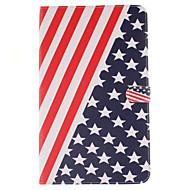 Для Кейс для  Samsung Galaxy Бумажник для карт / Кошелек / со стендом / Флип / С узором Кейс для Чехол Кейс для Флаг МягкийИскусственная